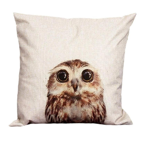 Vintage Owl Pillow Case