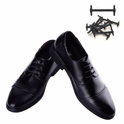 f32616ff8d 10pcs Silicone No Tie Shoelaces for Leather Shoes