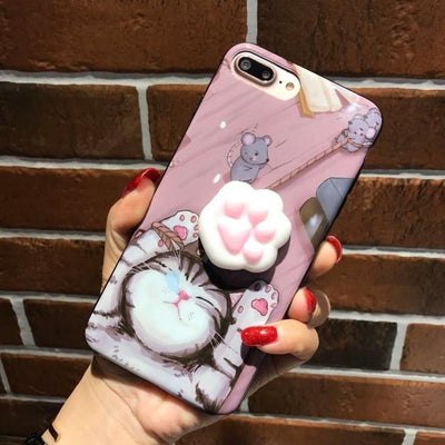 SQUISHY CUTE ANIMAL IPHONE CASES 3D