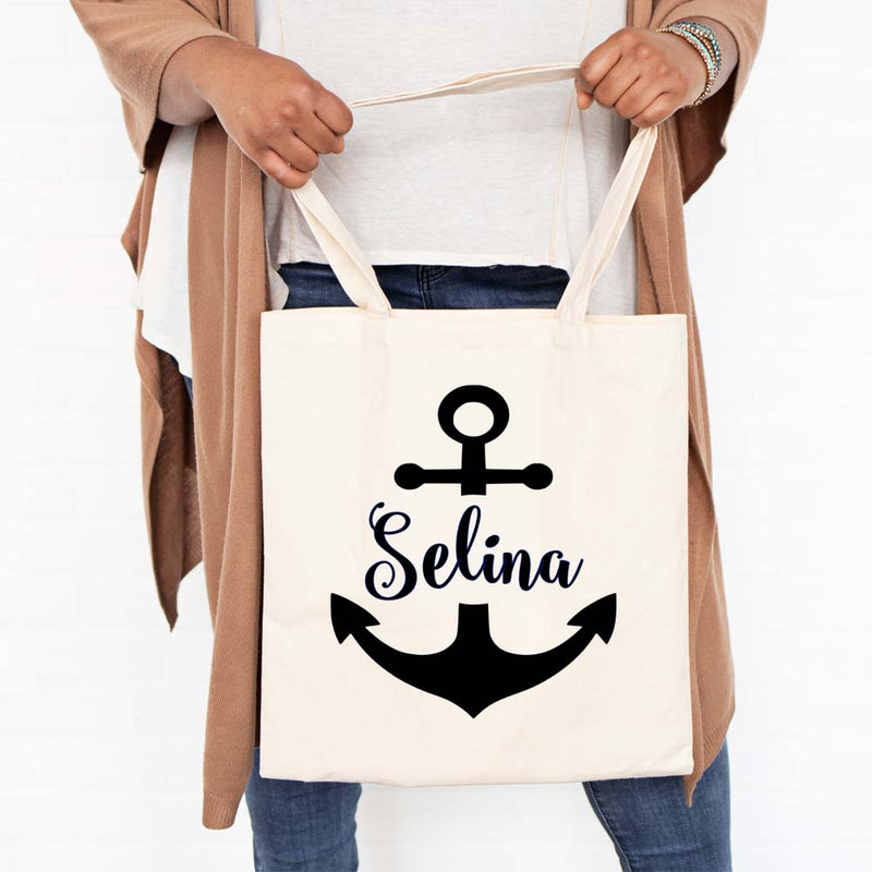 Personalised Anchor Tote Name
