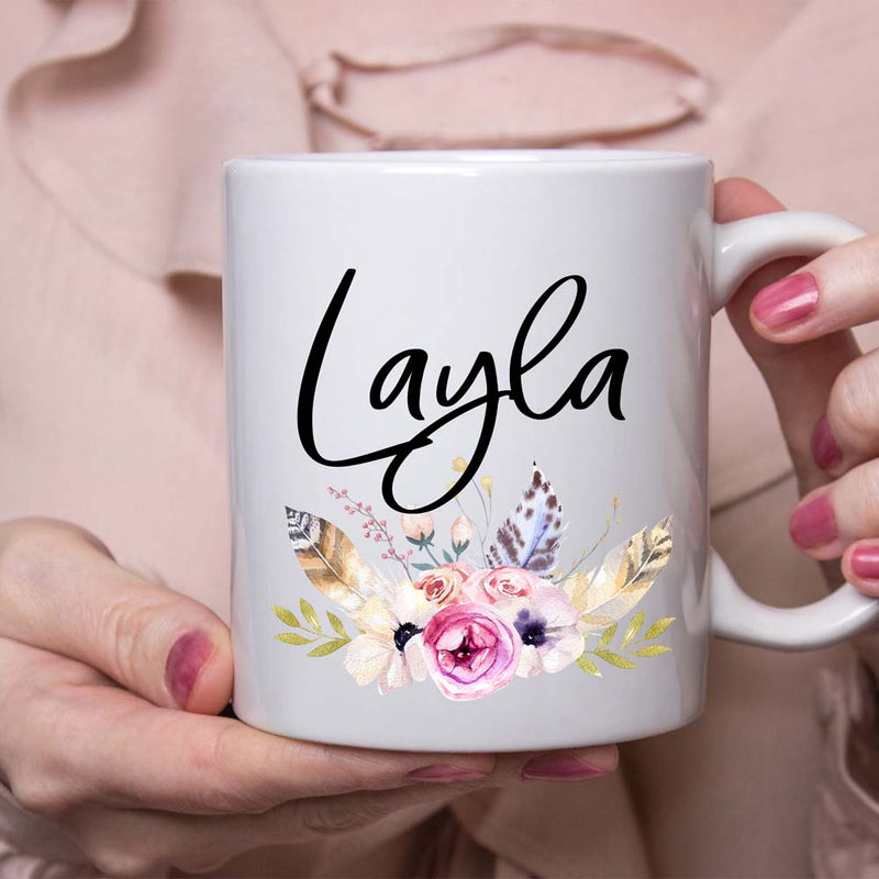 Custom Name Boho Coffee mug