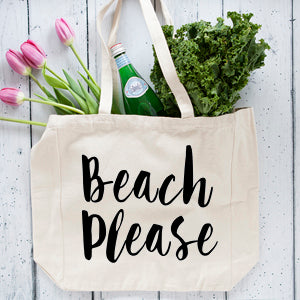 Beach Please Oversized Tote Bag