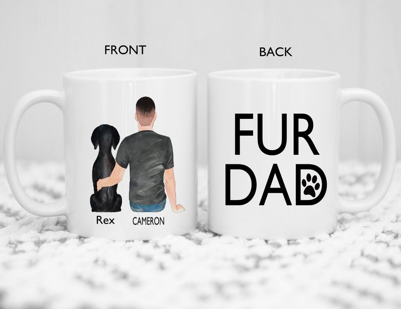 Personalised Fur Dad Mug