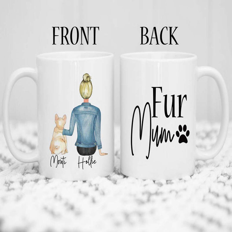 Custom Dog Mug Pet Portrait