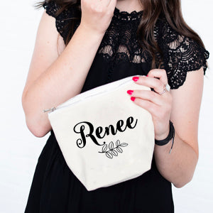 Leaf Personalised Make-up Bag