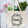 Oversized Custom Floral Tote Bag