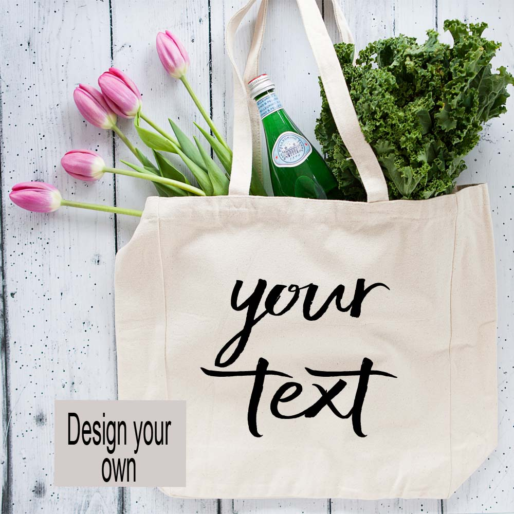 Oversized Custom Canvas Tote