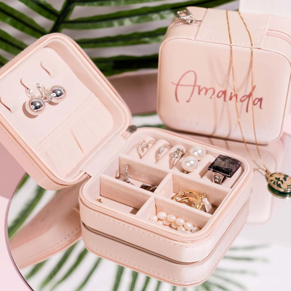 Personalised Travel Jewellery box