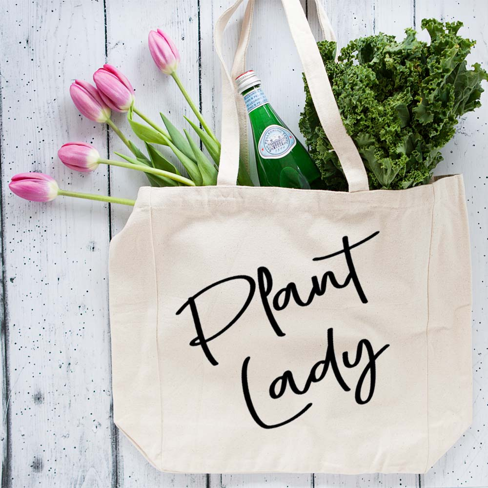 Oversized Plant Lady Tote bag