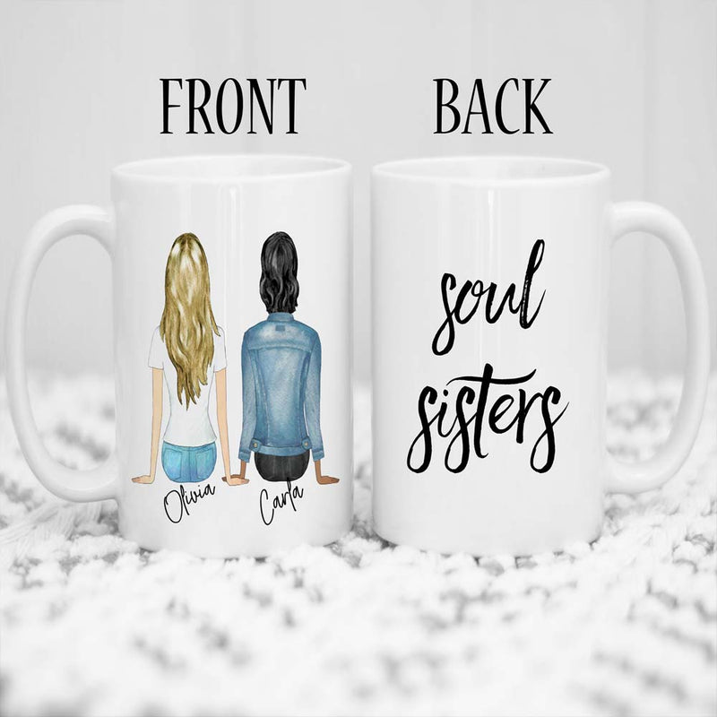 Personalised Best Friend soul sister Mug