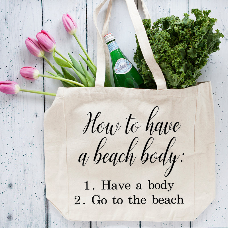 Beach Body oversized Tote Bag