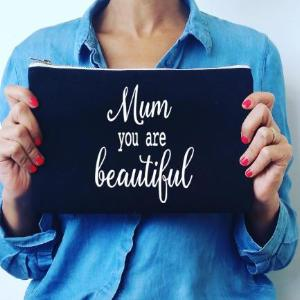 Mum Black Cosmetic Bag