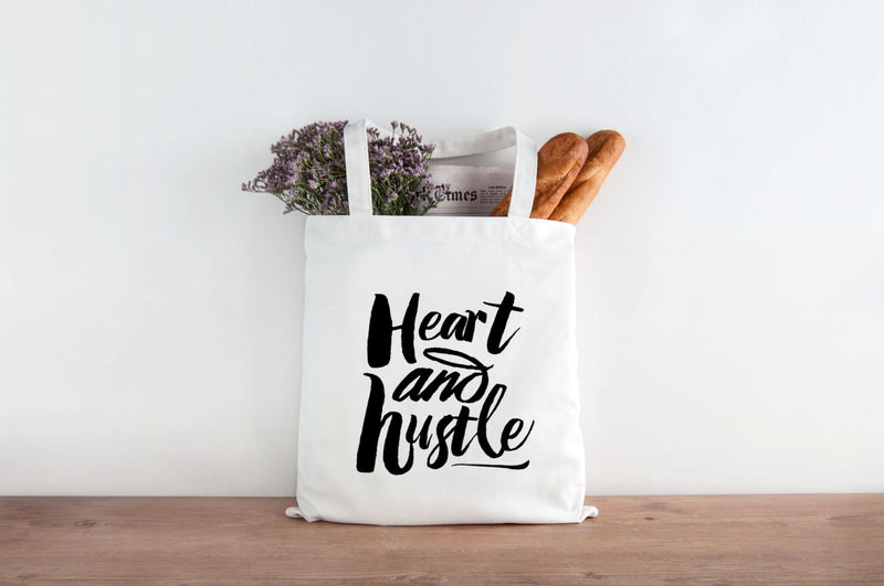 Heart and Hustle canvas Tote Bag