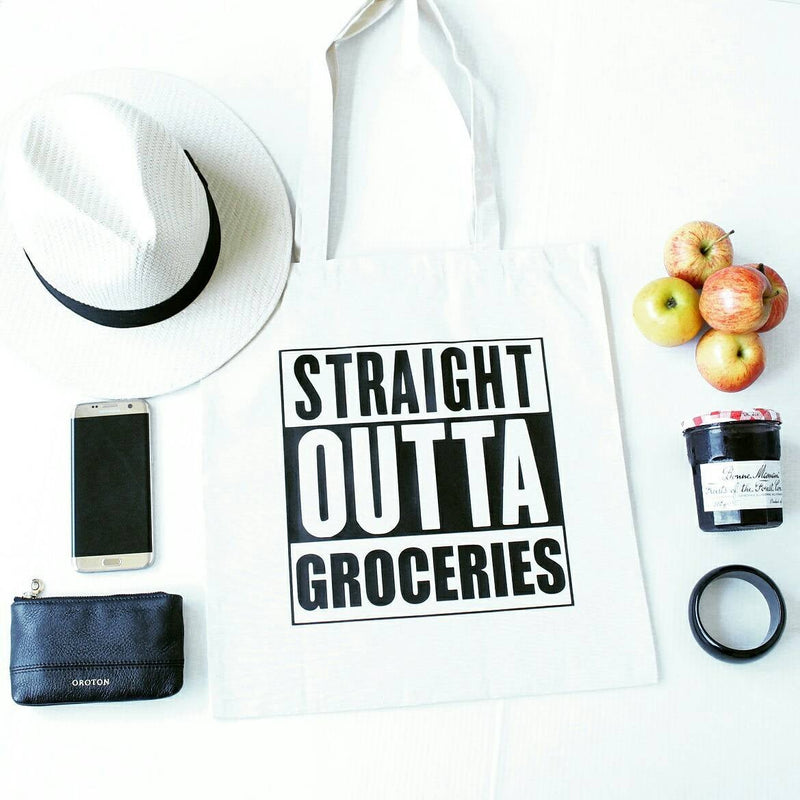 Straight Outta Groceries tote Bag