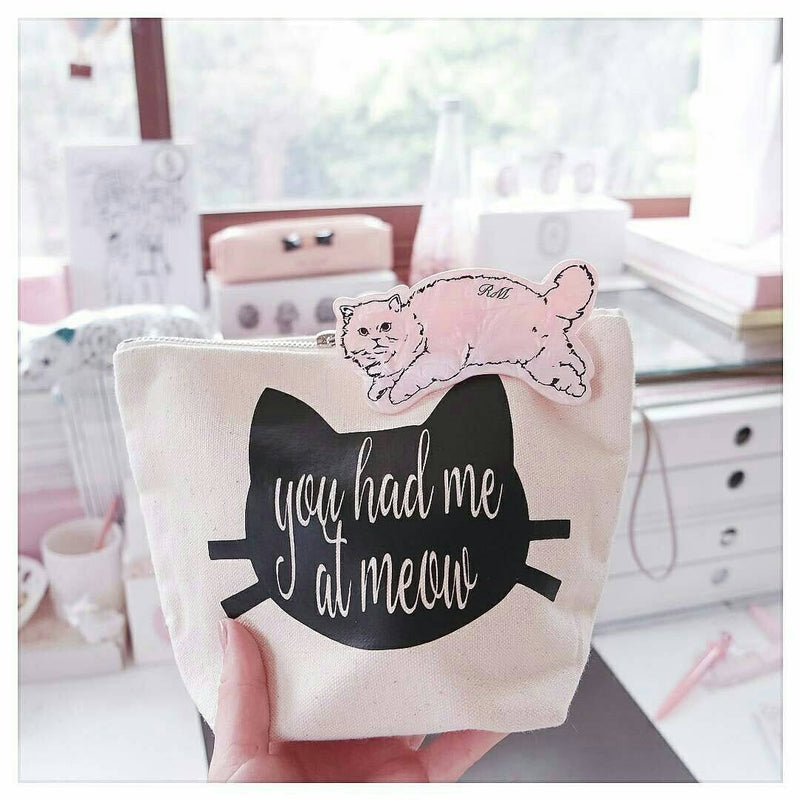 Cat Lover Makeup Bag