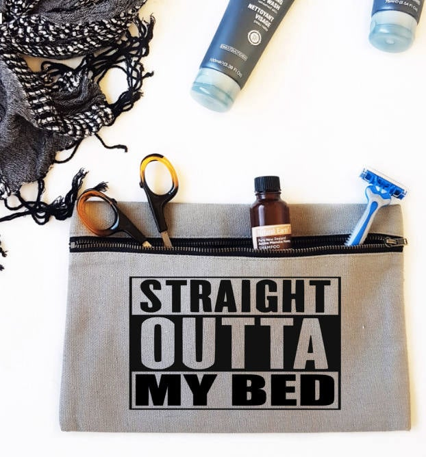 Straight outta my bed Man Pouch