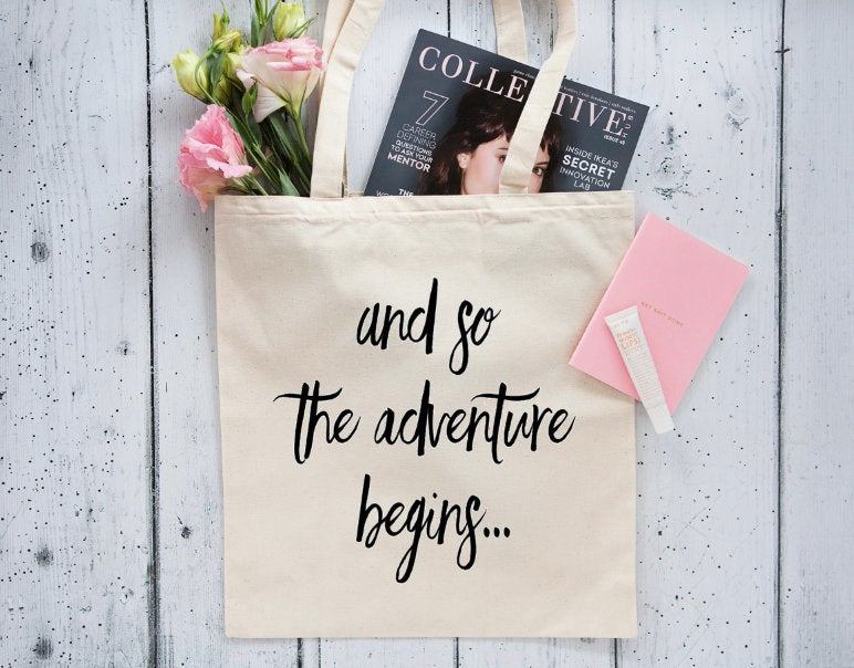 And So Adventure Tote - Bridesmaid Tote Bag