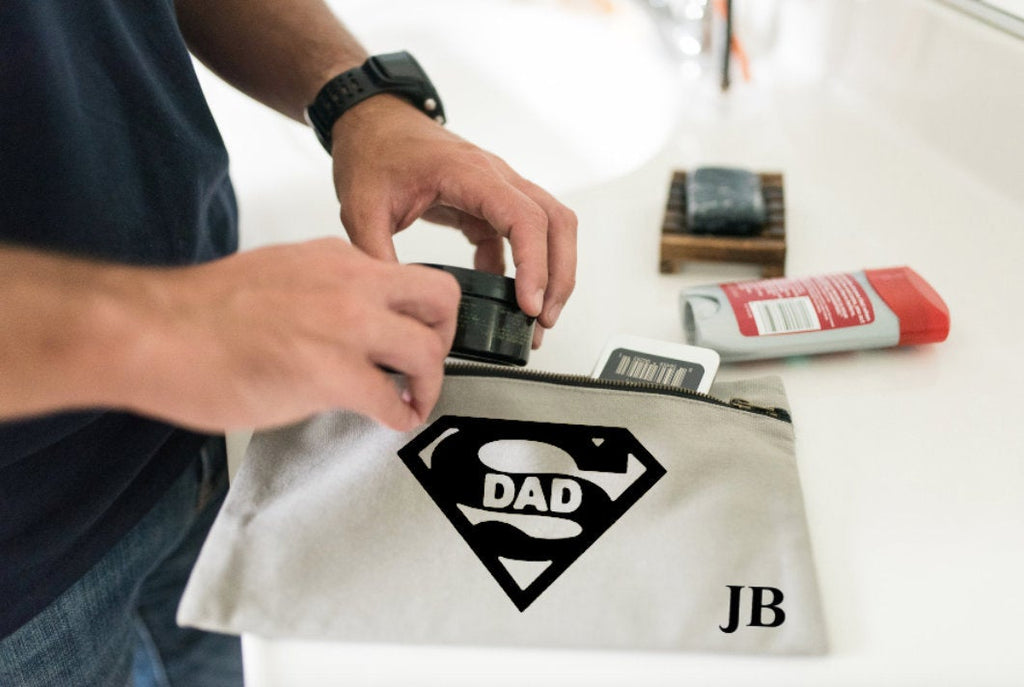 Personalised Toiletry Bag  SuperDad Gift