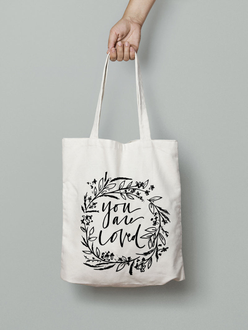 You Are Loved Canvas Tote Bag
