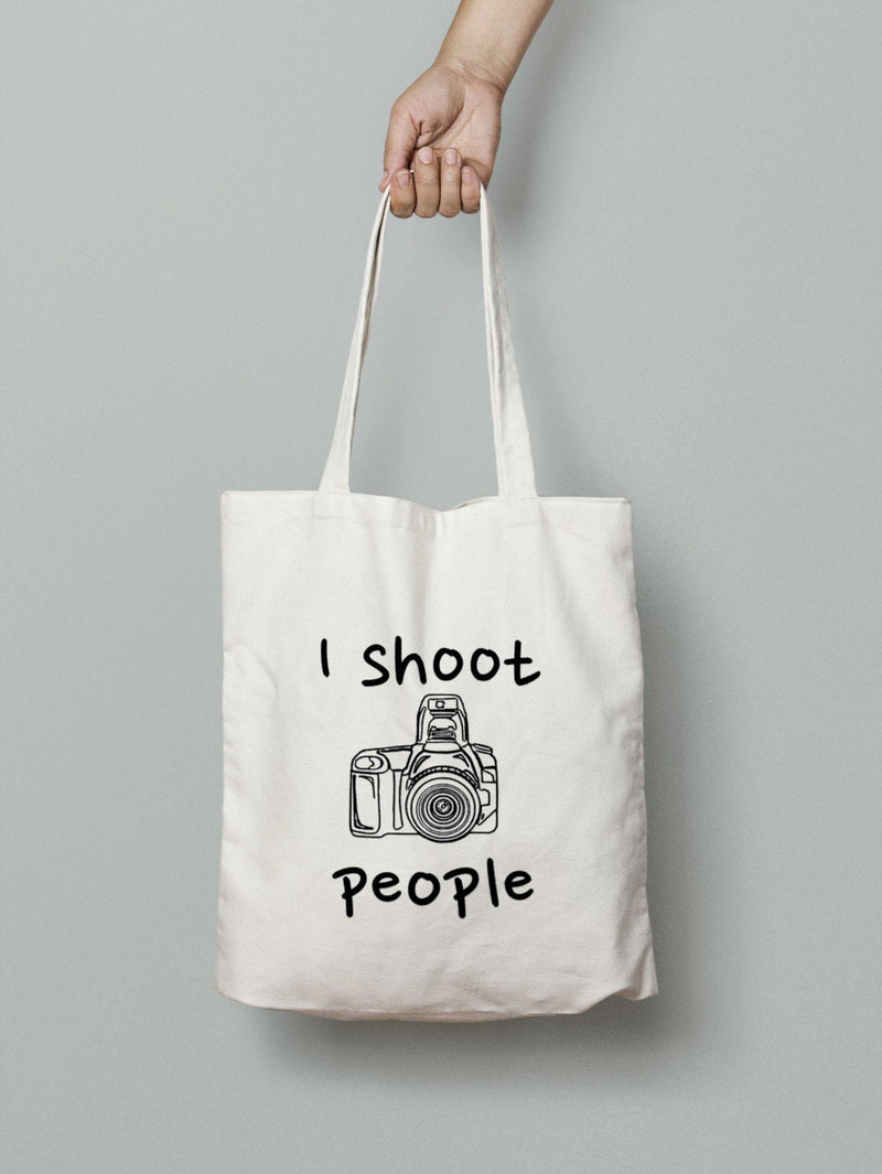 I Shoot People Tote Bag - Photographer Gift