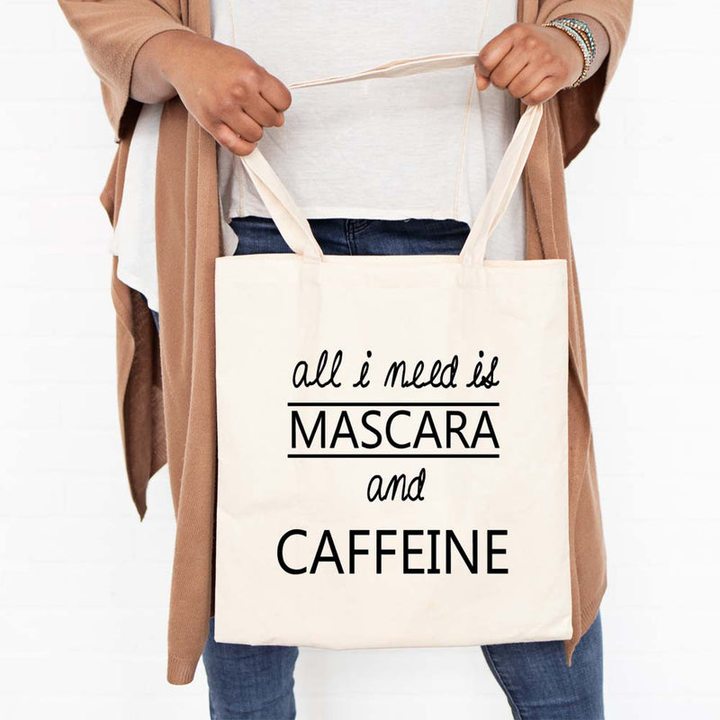 Funny Reusable tote bag for makeup and Coffee Lover women gift