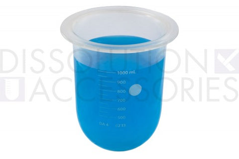 ORL-PSGLA900-HRT Vessel 1L, Clear Glass, PTFE coated, Hanson Comp.
