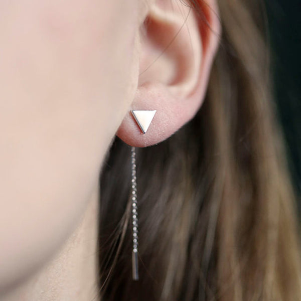 Cali Triangle Earrings - JW18 Silver