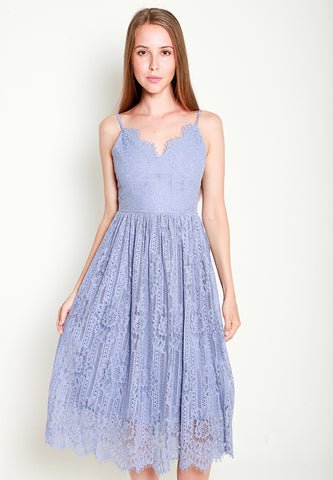 Leila Lace Dress - ll3194 Purple