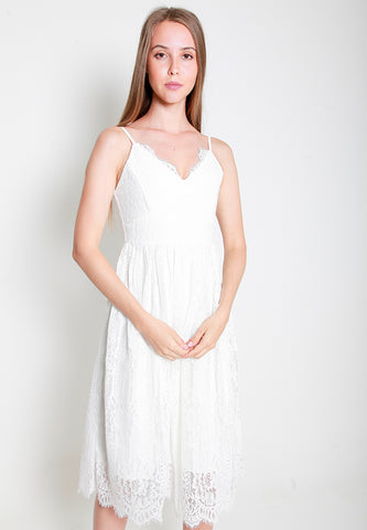 Leila Lace Dress - ll3194 White