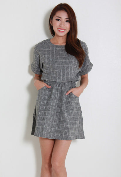 [Le'Summer] Ewinn Dress – Y6035 (Grey)