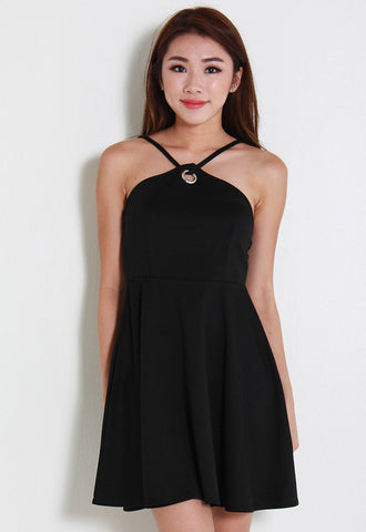 [Le'Summer] Jera Halter Dress – Y6032 (Black)