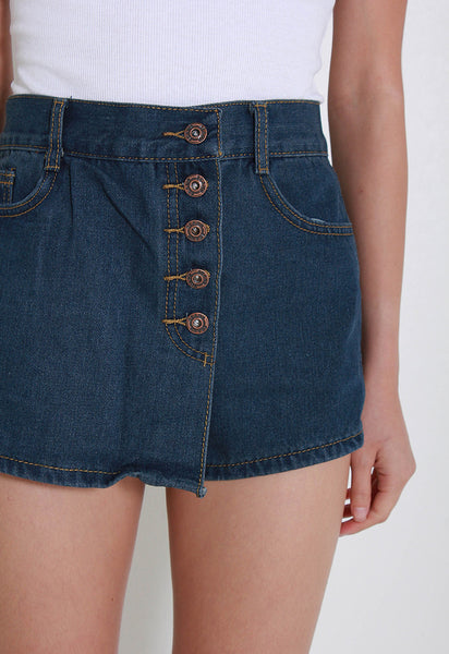 [Le'Summer] Orine Denim Skorts – Y6062