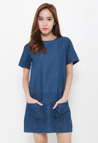Pockets Denim Dress – Z9238