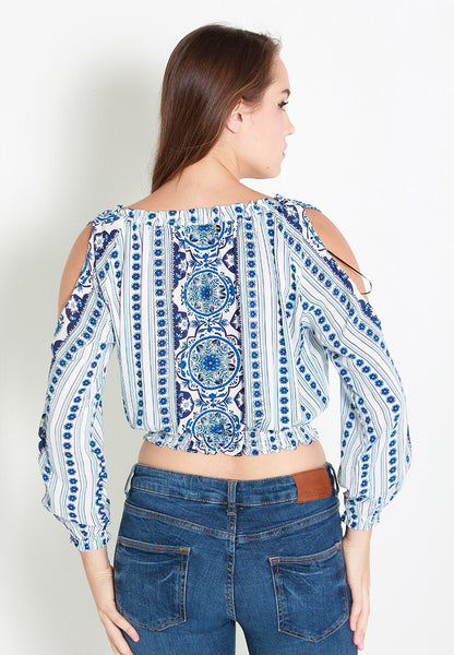 Beck Printed Off Shoulder Blouse – ll2254