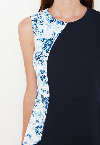 Koel Floral Dress – ll2596 (Blue)