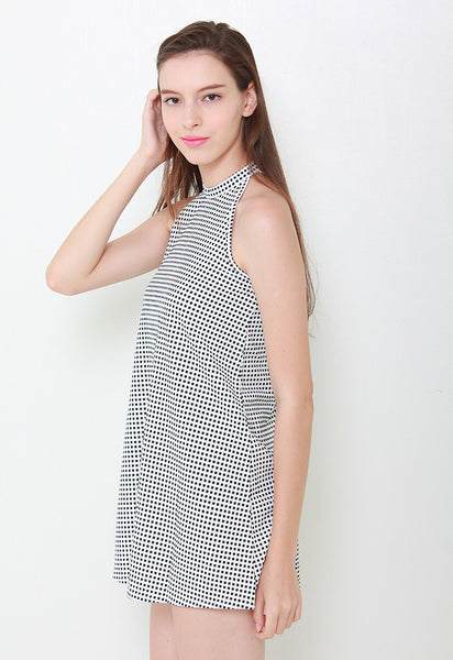 Kayla Checks Swing Dress – LL2076 (White)