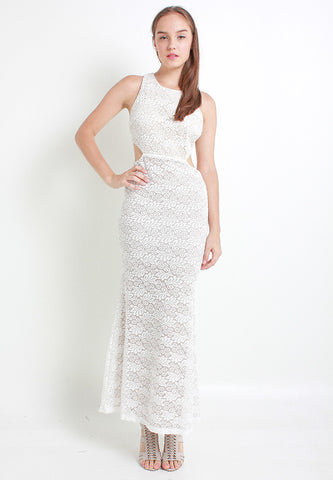 Danlea Lace Dress – ll2321 (White)