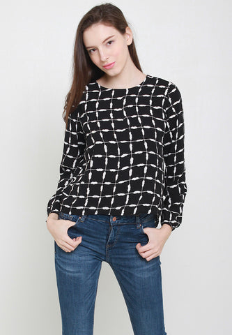 Ady Grids Blouse – ll904