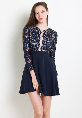 Astley Lace Dress – ll2459 (Blue)