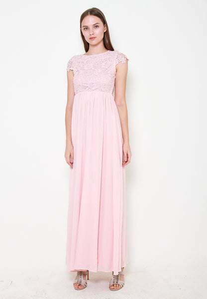 Myla Crotchet Maxi Dress - ll3104 Pink