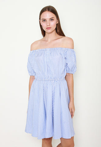 Amaya Stripes Offshoulder Dress - ll3113
