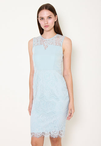 Khloe Lace Midi Dress – ll2898 blue