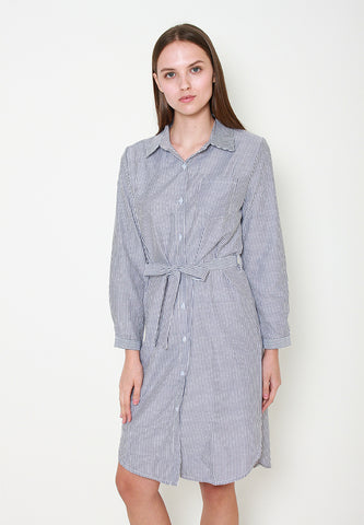 Kyla Stripes Shirt Dress - ll3159