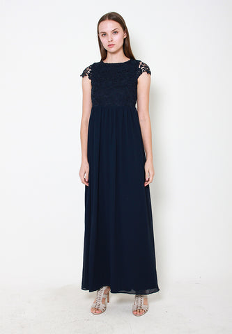 Myla Crotchet Maxi Dress - ll3104 Blue