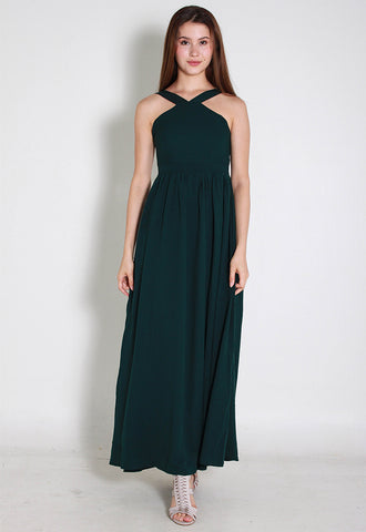 Kaia Maxi Chiffon Dress – ll2860 (Green)