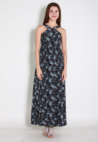Kaia Maxi Chiffon Dress – ll2860 (Floral)