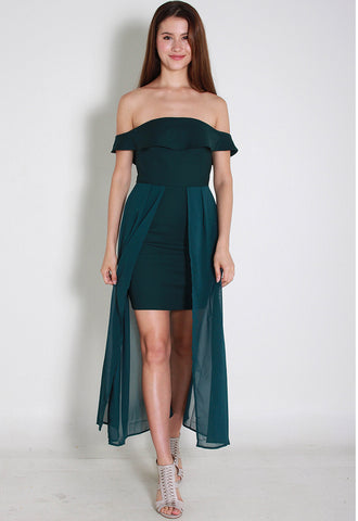 Mila OffShoulder Dress – ll2855 (Green)