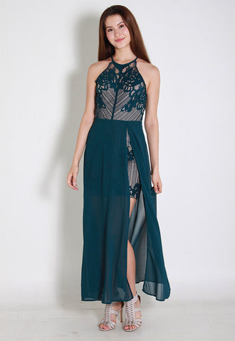 Lenas Lace Maxi Dress – ll2852 (Green)