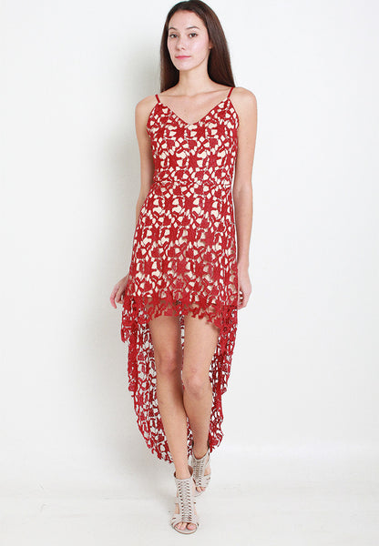 Jennie Crotchet Dress – ll2487 (Red)