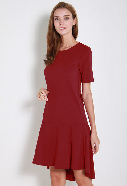 Chela Ruffles Dress - ll2688 (Red)